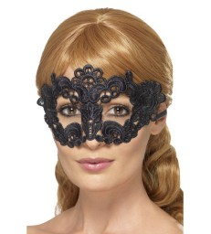 Embroidered Lace Filigree Floral Eyemask