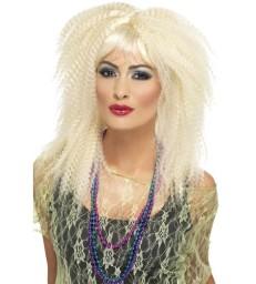 80s Side Ponytail Wig with Fringe