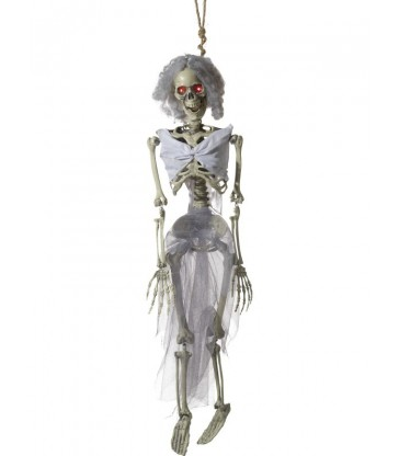 Animated Hanging Bride Skeleton Decoration