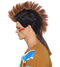 Native American Inspired Male Mohican Wig