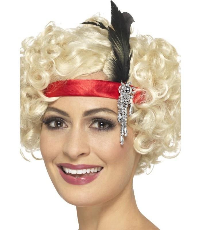 Red Satin Charleston Headband