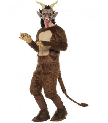 Beast / Krampus Demon Costume, Long Pile Fur