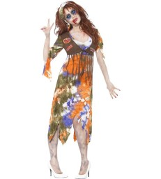Zombie 60s Hippie Lady Costume