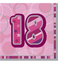 16 PINK GLITZ LUNCH NAPKINS-18