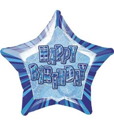20'' PKG BLUE STAR PRISM HB FOIL BALLOON