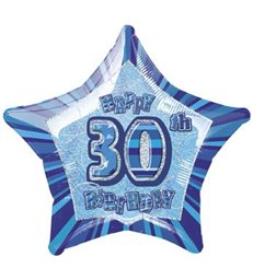 20'' PKG BLUE STAR PRISM 30 FOIL BALLOON