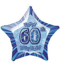 20'' PKG BLUE STAR PRISM 60 FOIL BALLOON