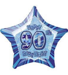 "20"" PKG BLUE STAR PRISM 90 FOIL BALLOON"