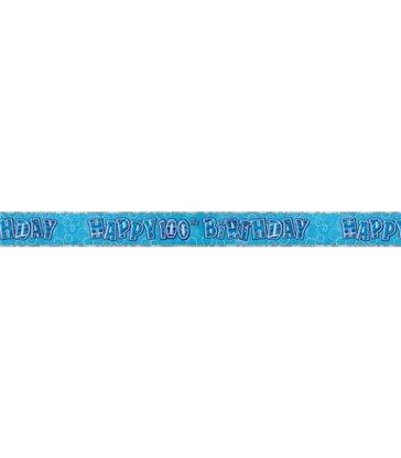 BLUE GLITZ 100 PRISM BANNER-9FT