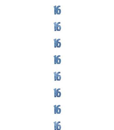6 GLITZ BLUE 16 HANGING DECOR 5FT