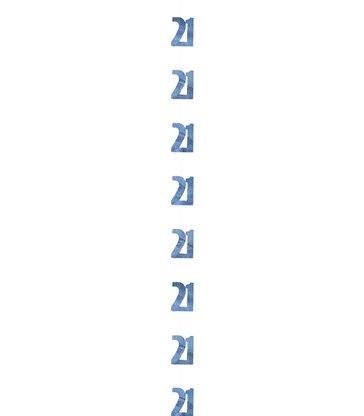 6 GLITZ BLUE 21 HANGING DECOR 5FT