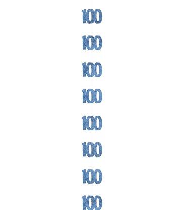6 GLITZ BLUE 100 HANGING DECOR 5'