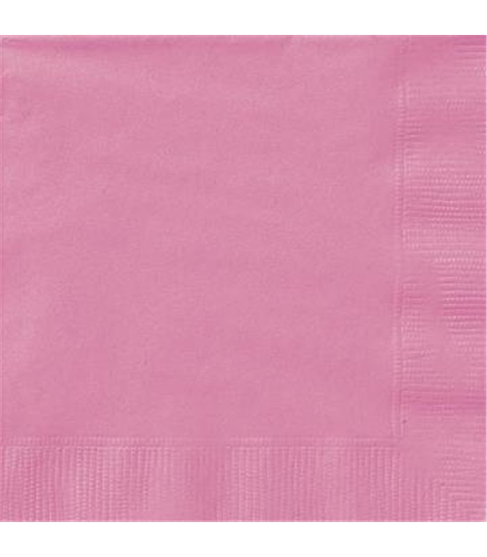 20 HOT PINK LUNCH NAPKINS