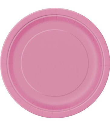 "16 HOT PINK 9"" PLATES"