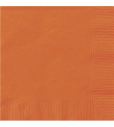 20 PUMPKIN ORANGE LUNCH NAPKINS