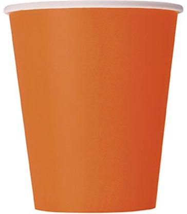 14 PUMPKIN ORANGE 9 OZ. CUPS