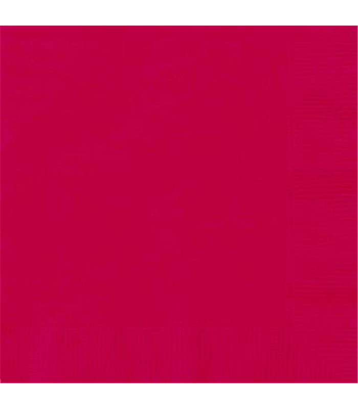 20 RUBY RED LUNCH NAPKINS