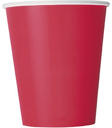 14 RUBY RED 9 OZ. CUPS