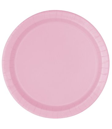 "16 LOVELY PINK 9"" PLATES"
