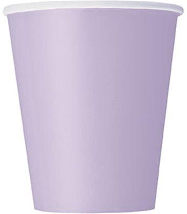 14 LAVENDER 9 OZ. CUPS