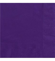 20 DEEP PURPLE LUNCH NAPKINS