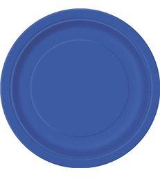 20 ROYAL BLUE 7'' PLATES
