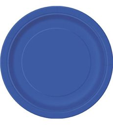 "16 ROYAL BLUE 9"" PLATES"