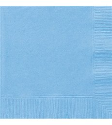 20 POWDER BLUE LUNCH NAPKINS
