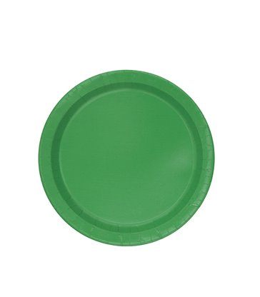"16 EMERALD GREEN 9"" PLATES"