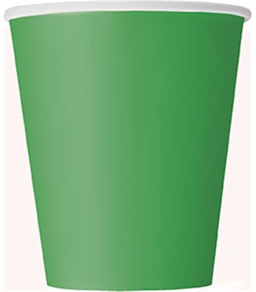 14 EMERALD GREEN 9 OZ CUPS