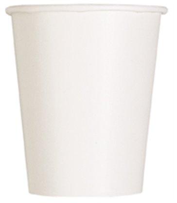 14 BRIGHT WHITE 9 OZ CUPS