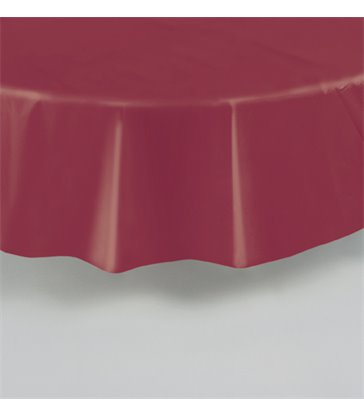BURGUNDY ROUND TABLECOVER 84 DIA