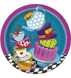 """8 MAD TEA PARTY 9"""" PLATES"""