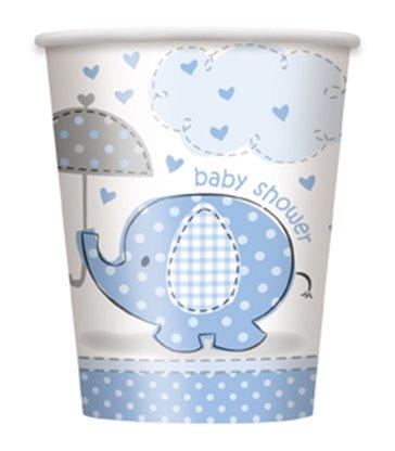 8 UMBRELLAPHANTS BLUE 9OZ CUPS