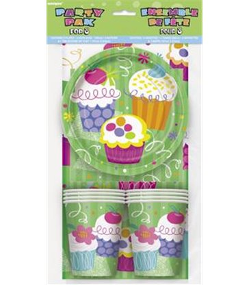 CUPCAKE PARTY PARTY PAK FOR 8