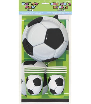 3D SOCCER BALL PARTY PAK FOR 8