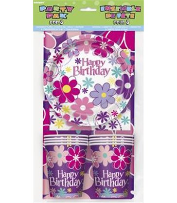 BIRTHDAY BLOSSOM PARTY PAK FOR 8