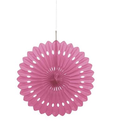 "DECORATIVE FAN 16"" HOT PINK"