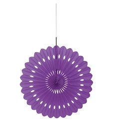 "DECORATIVE FAN 16"" PRETTY PURPLE"