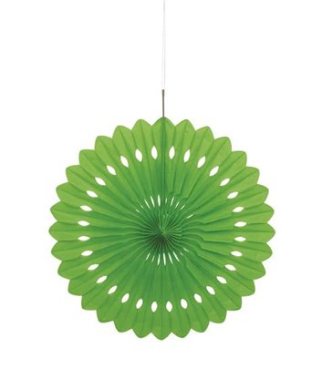 "DECORATIVE FAN 16"" LIME GREEN"