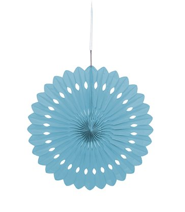 "DECORATIVE FAN 16"" POWDER BLUE"