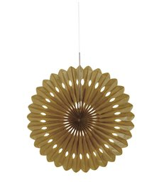"DECORATIVE FAN 16"" GOLD"