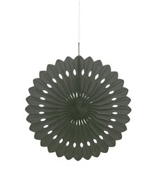 "DECORATIVE FAN 16"" BLACK"