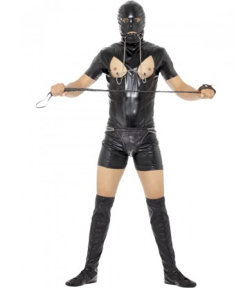 Bondage Gimp Costume with Bodysuit