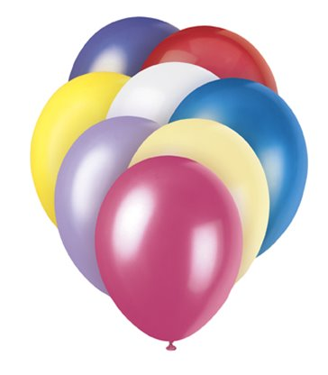 "8 12"" PRL ASSORTED PASTEL BALLOONS"