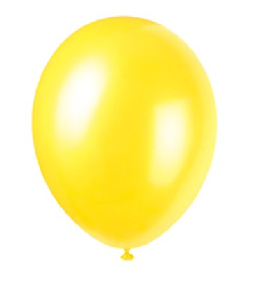 "50 12"" CAJUN YELLOW PEARLISED BALLOONS"