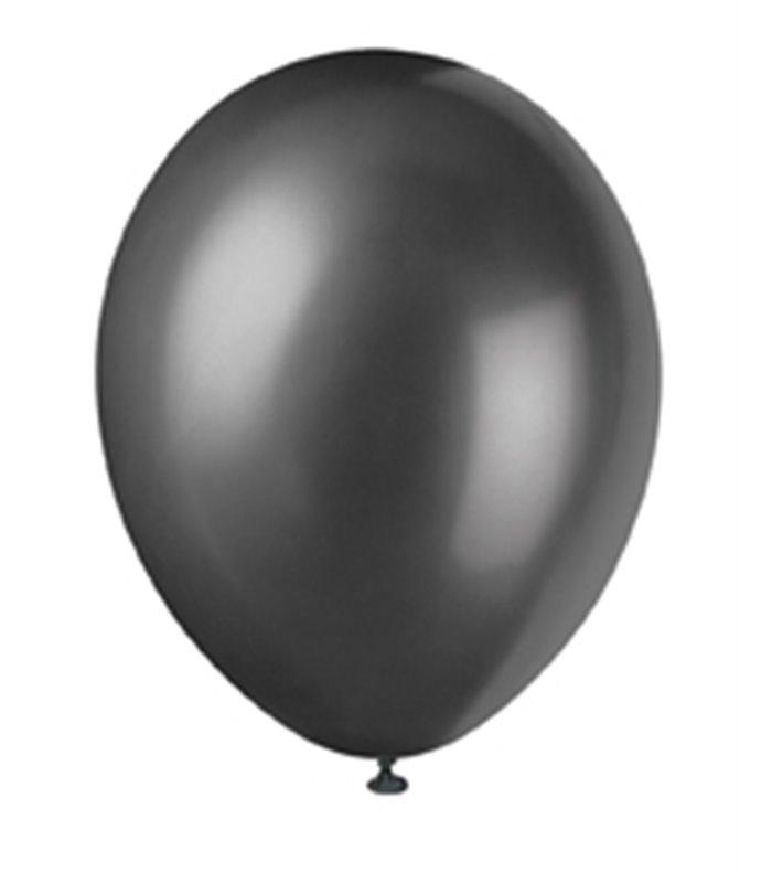 "50 12"" INK BLACK PEARLISED BALLOONS"