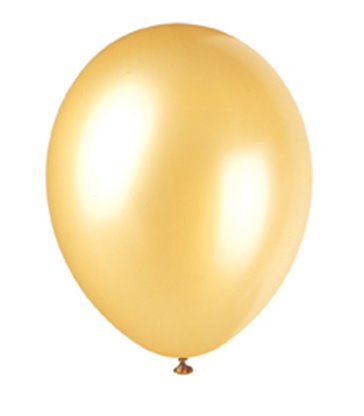 "50 12"" CHAMPAGNE GOLD PEARLISED BALLOONS"