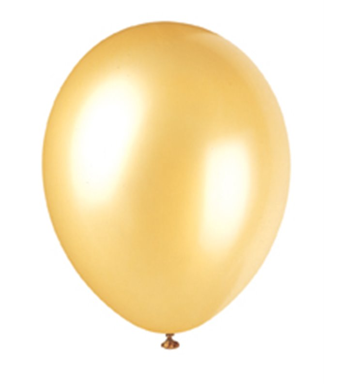 """50 12"""" CHAMPAGNE GOLD PEARLISED BALLOONS"""
