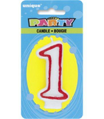 DELUXE NUMERL BIRTHDAY CANDLE 1